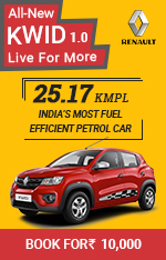 Book Renault Kwid 1.0L now