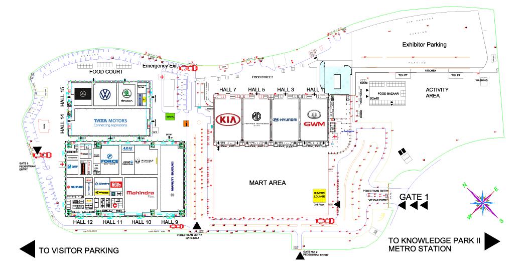 2020 Auto Expo Site plan