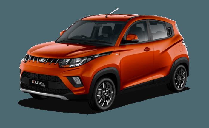 Mahindra Kuv100 Fiery Orange