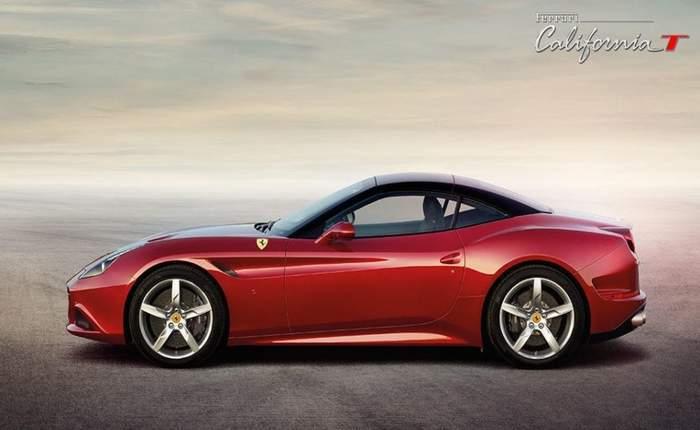 Elegant Ferrari California T Side Look With Roof