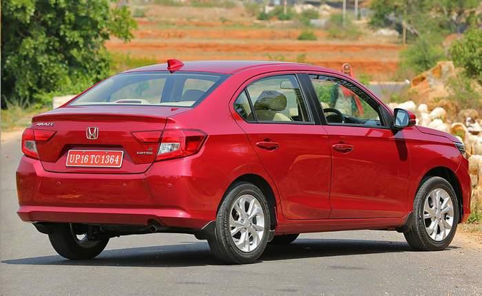 New Honda Amaze Rear Profile