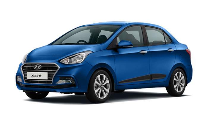 Hyundai xcent price in india gst rates images mileage for Hyundai xcent exterior