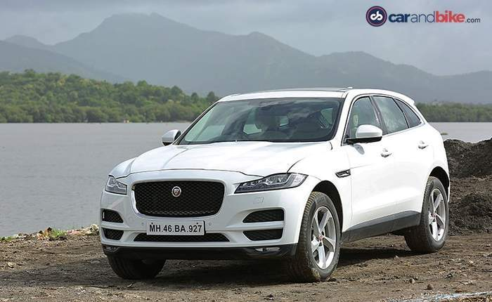 Jaguar F Pace Front Side View