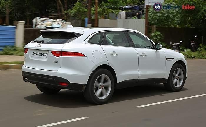 Jaguar F Pace Rear View Side