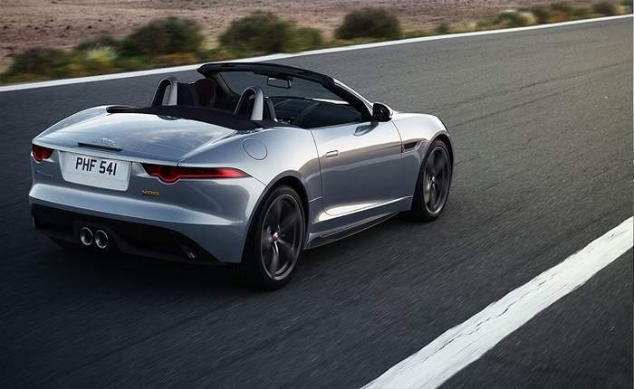 Jaguar F Type Convertable Rear 3 4th View