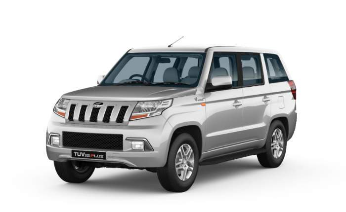 Mahindra Tuv300 Plus Front View Majestic Silver