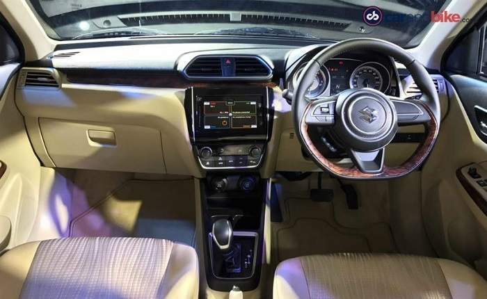 Maruti suzuki swift dzire lxi o price features car for Swift vxi o interior