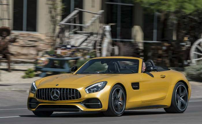 Mercedes Amg Gt C Side View