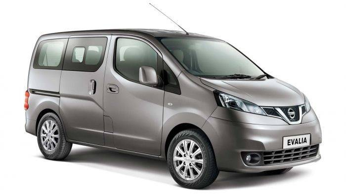 nissan evalia front profile 3 4th view