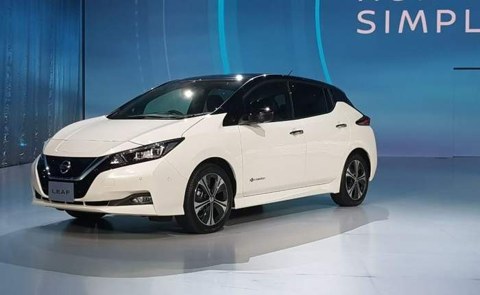 Nissan Leaf Side Profile View