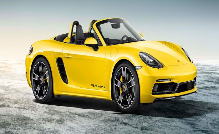 Porsche 718 Boxster Side Front View