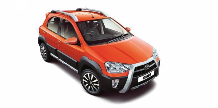 toyota etios cross sturdy roof rails