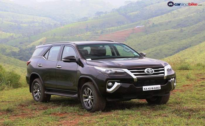 toyota fortuner india  price  review  images